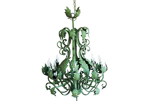I Don 39 T Know Why But I Love This 8 Arm Iron Acanthus Leaf Chandelier On Ranch