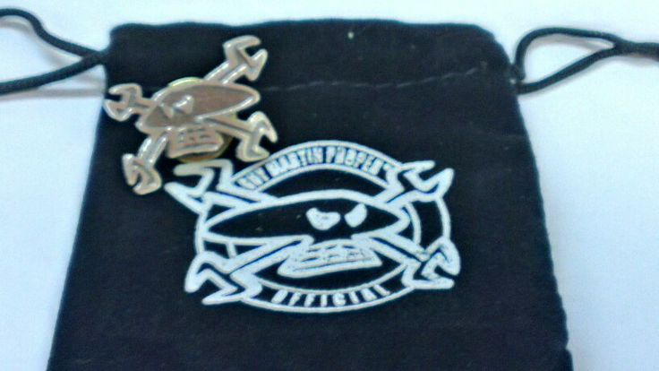 Guy Martin lapel pin and pouch