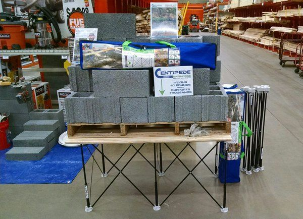 "Centipede Tool on Twitter: ""We're at a #contractor days event at a @HomeDepot in #Pittsburgh today. Come meet the inventor!"" #CentipedeSawhorse #CentipedeTool"
