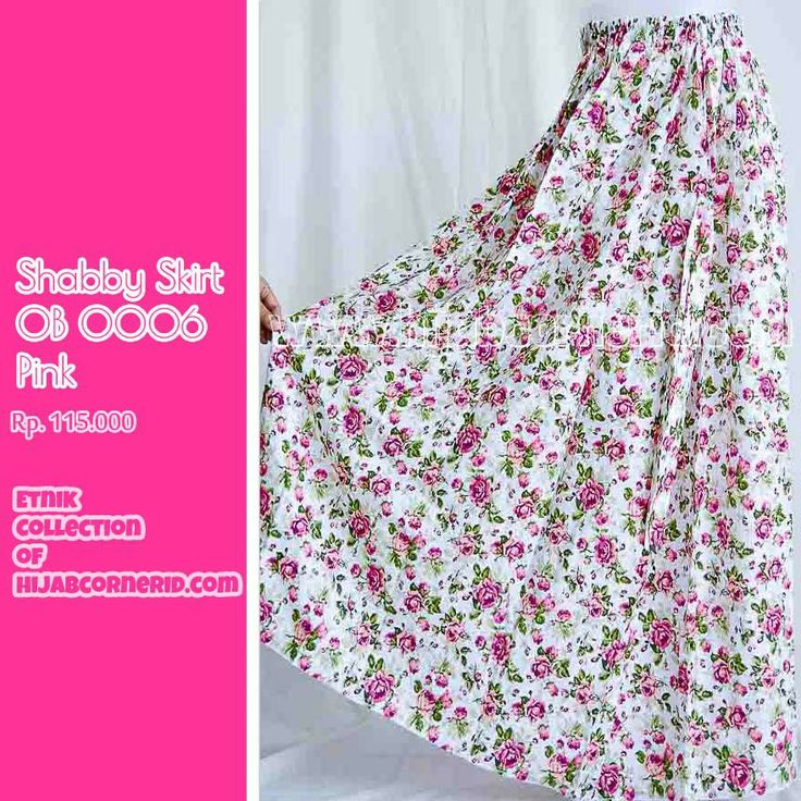 Shabby chic, lovely skirt from hijabcornerid