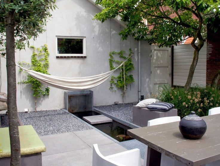 25 beste idee n over tuin hangmat op pinterest buiten hangmat hangmatschommel en buiten - Deco kleine tuin buiten ...