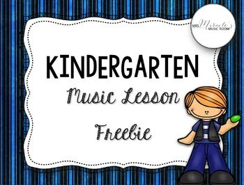 Kindergarten Music Lesson {Freebie}--this fun, engaging lesson practices fast/slow and prepares beat, and includes songs and visuals!