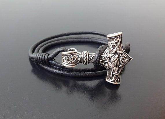 Mjolnir bracelet Viking Bracelet Thor's Hammer by Surflegacy