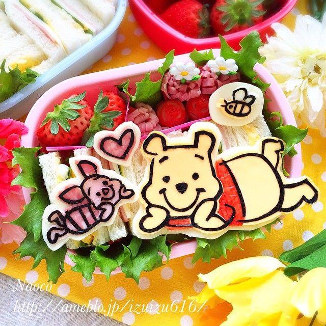 Pooh and Piglet in Spring  プーさんとピグレットの春の遠足弁  今日は幼稚園の親子遠足 サンドウィッチのリクエストだったので、海苔切り&平面弁にしてみました♬ これから行ってきまーーす 明日は確実に筋肉痛です。。。(〃ノωノ) #bentoart #bs_world #cute #cutebento #characterbento #decoben #decofood #foodart #foodblogger #gastroart #icu_japan #kawaii #kyaraben #kawaiifood #kawaiibento #mobileshotz_ #pooh #pigret#disney#webstapic #webstagram #キャラ弁#ディズニー#プーさん#ピグレット#piglet