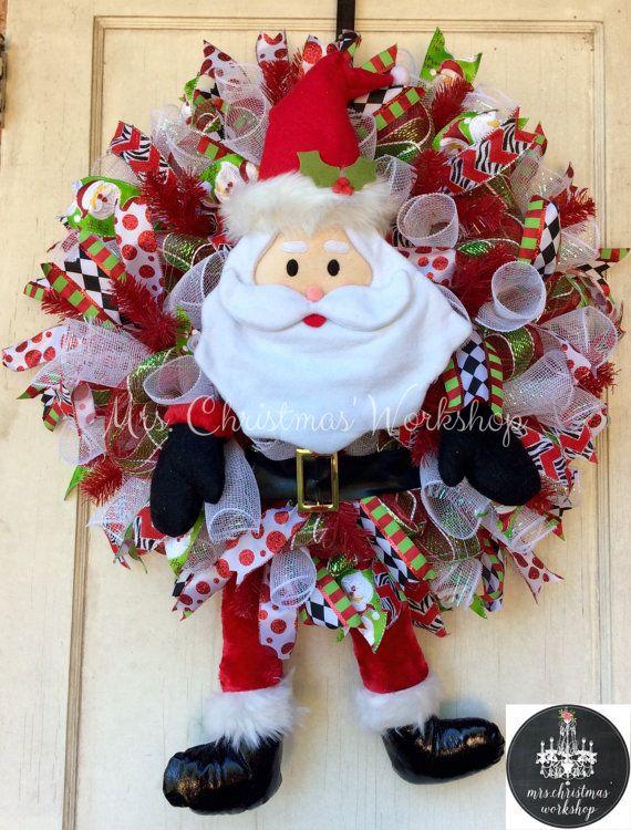 Best 25 Santa wreath ideas on Pinterest  Diy christmas wreaths