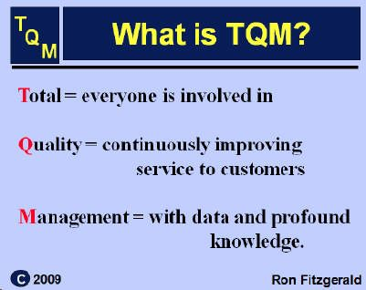 tqm in universities 2018-6-12 uowd's masters in quality management (mqm) will provide you with a thorough grounding in the theory and application of the various concepts of tqm, quality frameworks and models.