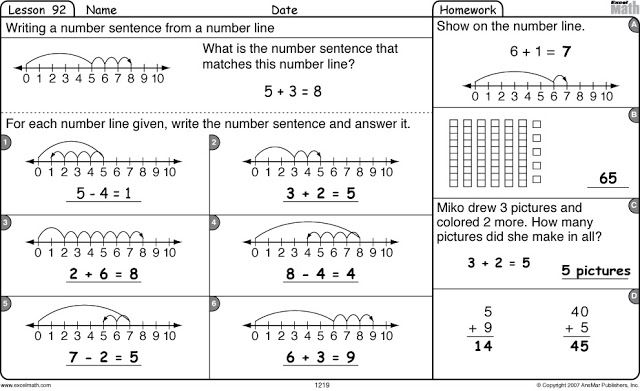 first grade math – Excel Math Worksheets
