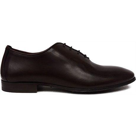 8491 zapato oxford enterizo o wholecut con el canto arrimado en color marrón de Paco Milan   Calzados Garrido