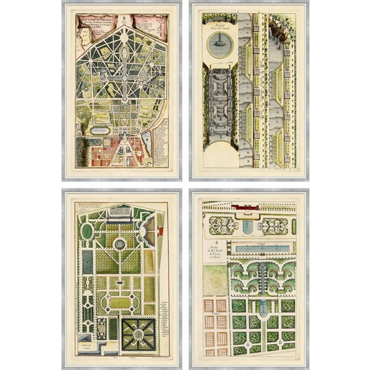18th Century French Garden Plans Charlotte Moss for
