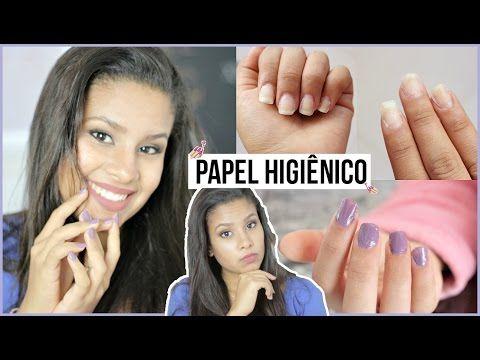 COMO FAZER UNHAS POSTIÇAS DE PAPEL HIGIÊNICO - YouTube