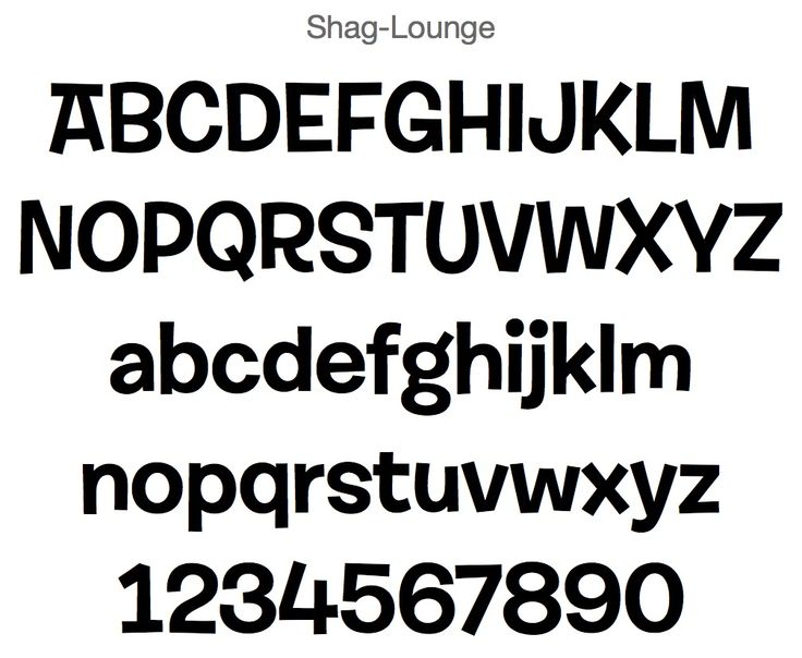 Shag Lounge Font Vinyl Decal Fonts Pinterest