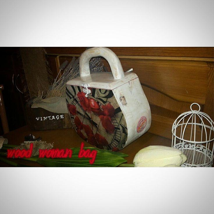 wood woman bag
