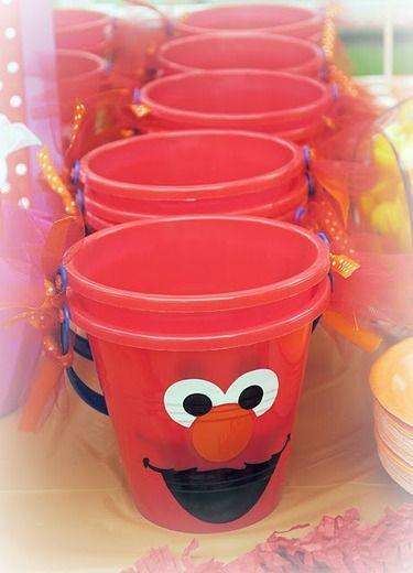 Elmo Birthday Party Ideas Elmo Birthday Buckets And 2nd
