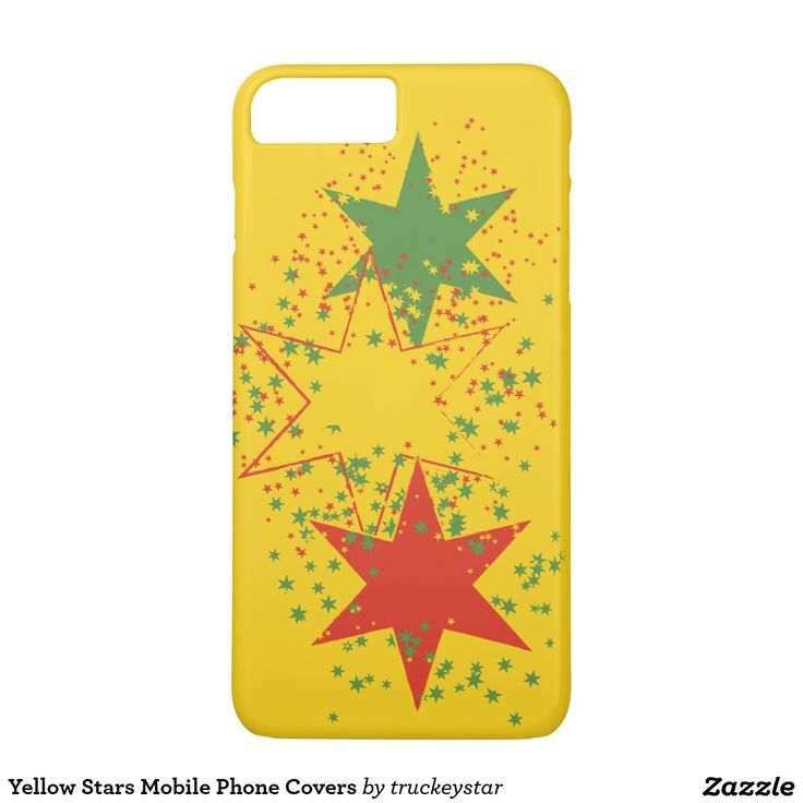 Yellow Stars Mobile Phone Covers