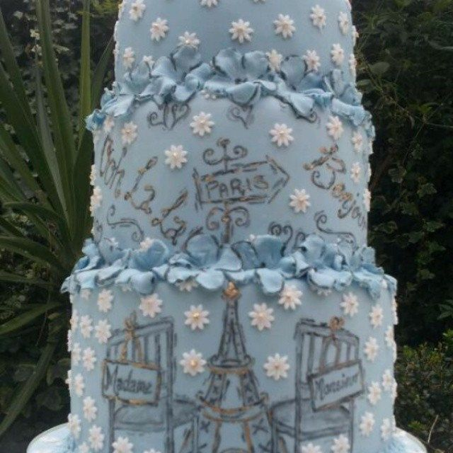 My French themed wedding cake! by janice hull cakes, via Flickr