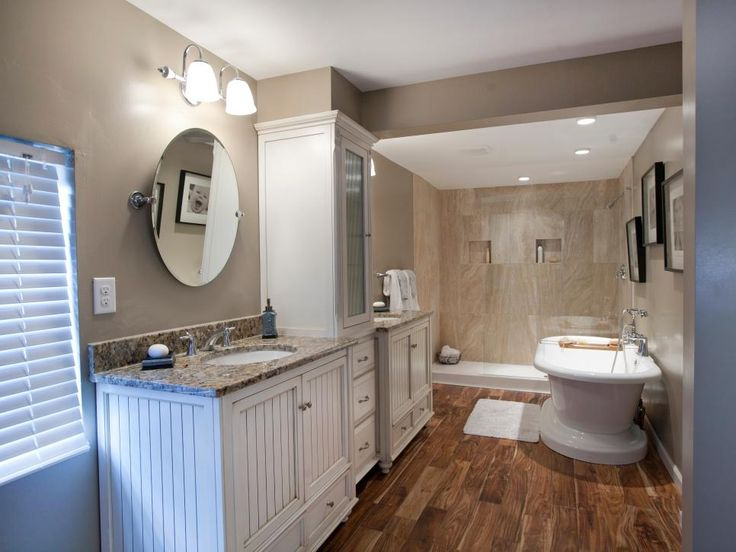 This master bathroom combines a contemporary shower tub for Master bathroom fixtures