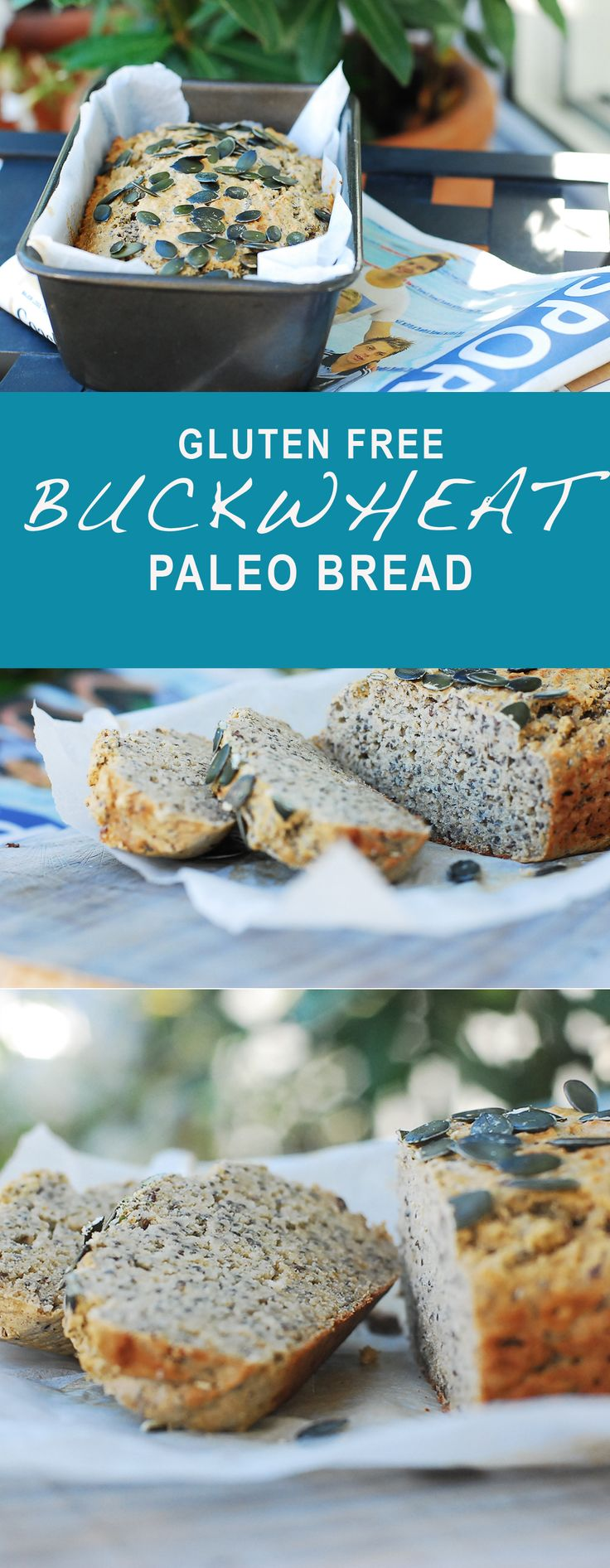 Gluten Free Buckwheat Bread. Perfect for toasting and even better right out of the oven. Paleo friendly, gluten free, grain free and naturally sugar free.