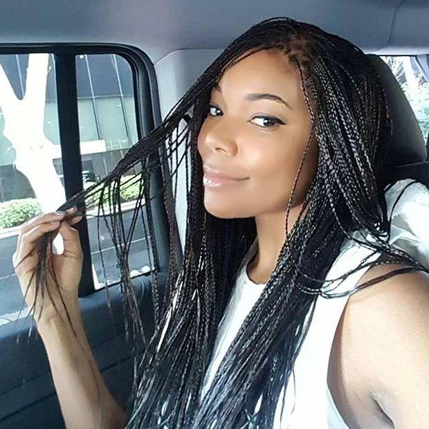 Gabrielle Union Micro Braids Style