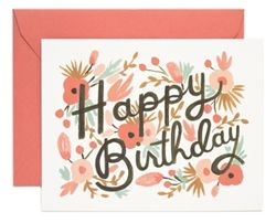 Rifle Paper Co. Floral Burst Birthday cards designed by Anna Bond
