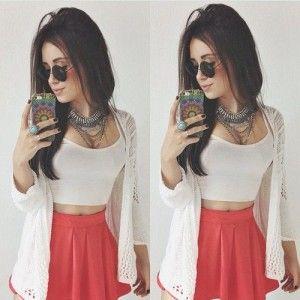 falda rosa