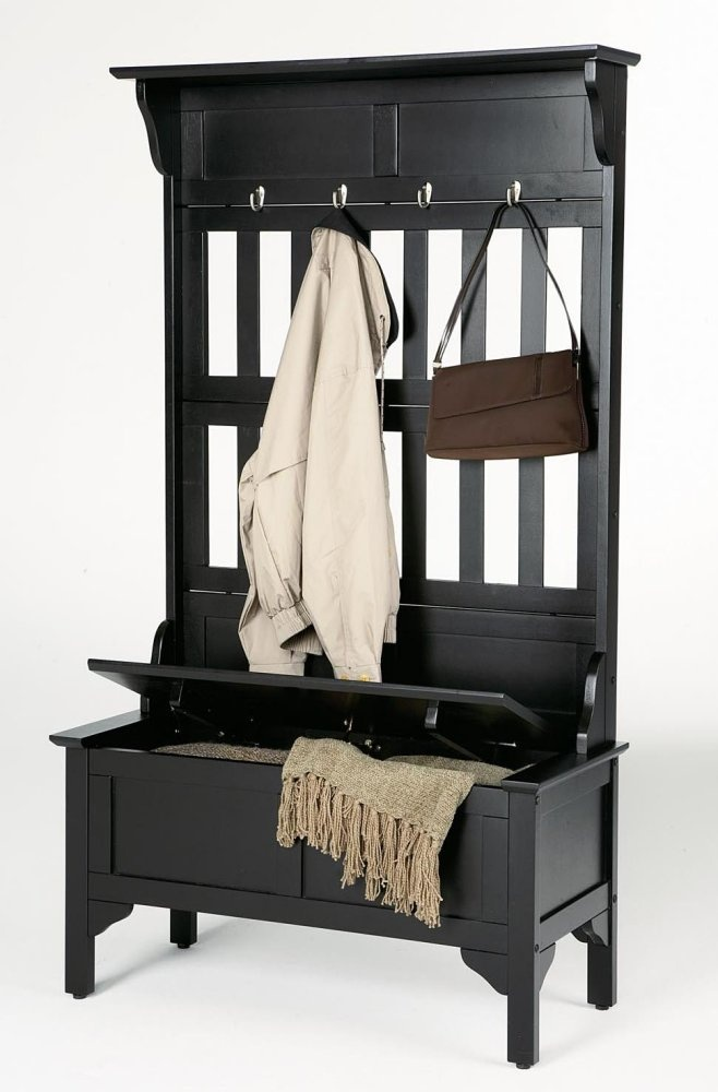 Storage Benches For Halls Part - 48: Home Styles Hoisin Hall Tree Storage Bench - Say Goodbye To Messy Front  Halls Strewn With Coats And Hats. The Home Styles Hoisin Hall Tree Storage  Bench ...