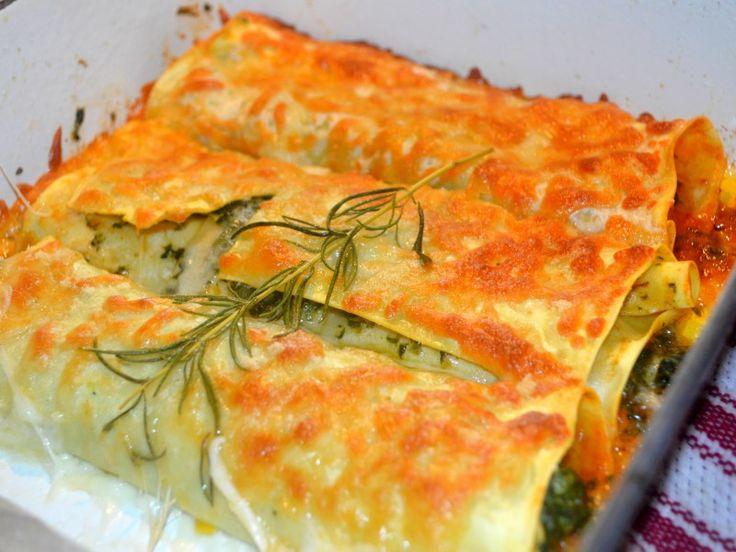 Cannelloni aux crevettes et épinards