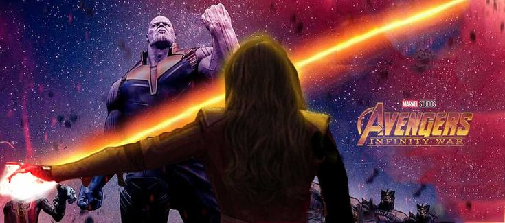 You Shall Not Pass, Avengers Infinity War, Elizabeth Olsen, Scarlet Witch, Thanos, Fanart