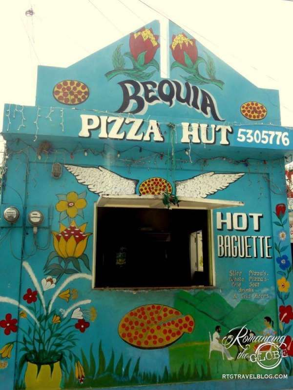 Bequia in the Grenadines - Pizza Hut :-)
