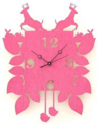 Hot Pink Cuckoo Clock by Snowfawn eclectic clocks