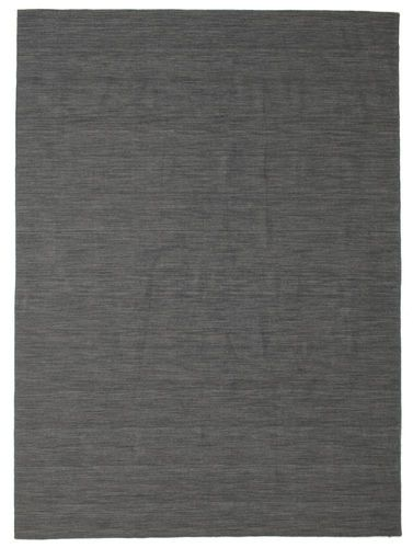 Kelim Loom - Zwart / Grijs tapijt CVD14550