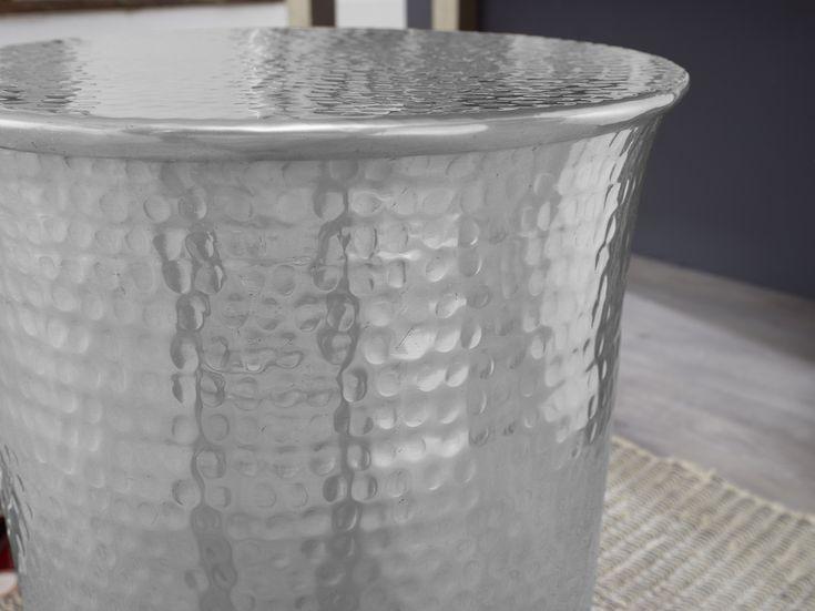 Wohnling Beistelltisch Turan Silber Wl5 487 Aus Aluminium Silber Metall Wohni Aluminium Beistelltisch Metal Metal Side Table Coffee Table 2019 Trash Can