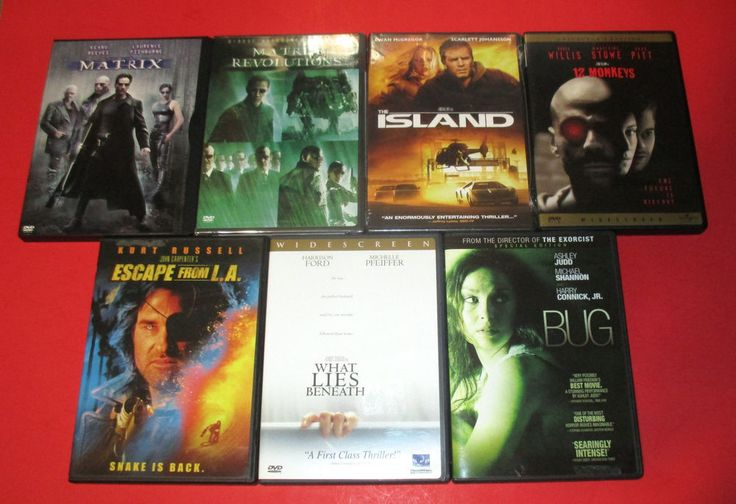 7 DVD SCI FI HORROR THE MATRIX/ 12 MONKEYS/ THE ISLAND/ESCAPE FROM LA  NEW/ USED #thematrix #keanureeves #theisland #12monkeys #escapefromLA #kurtrussell #horror #scifi #action #movies http://www.ebay.com/usr/vinylrockretro?rt=nc