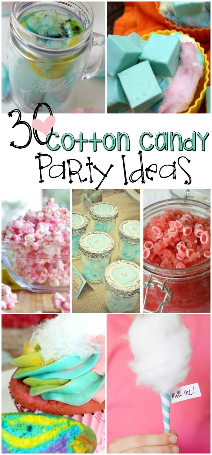 I need to throw a cotton candy birhtday party! That would be SO FUN!