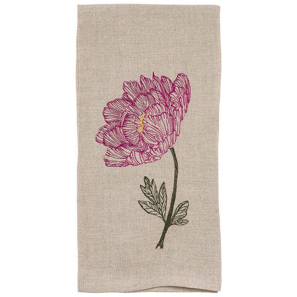 Tea Towels Pillow Talk: Coral And Tusk - Peony Teatowel