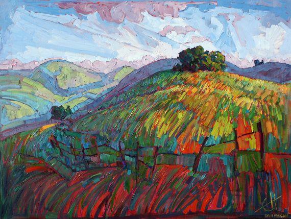 Paso Robles California Impressionist Landscape by redrockfineart By Erin Hanson