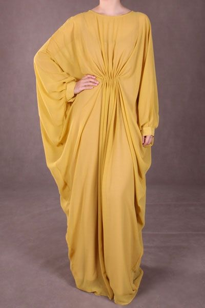 Arissa Kaftan - Mustard from #thepoplook // #modestfashiononline (based in Malaysia, ships Worldwide)