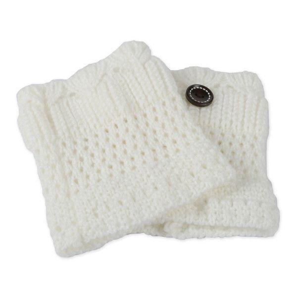 Women's GPCT Women Winter Crochet Knit Leg Warmers ($8.99) ❤ liked on Polyvore featuring intimates, hosiery, socks & hosiery, white, white leg warmers, crochet leg warmers, knit leg warmers and white hosiery #Socks&Hosiery