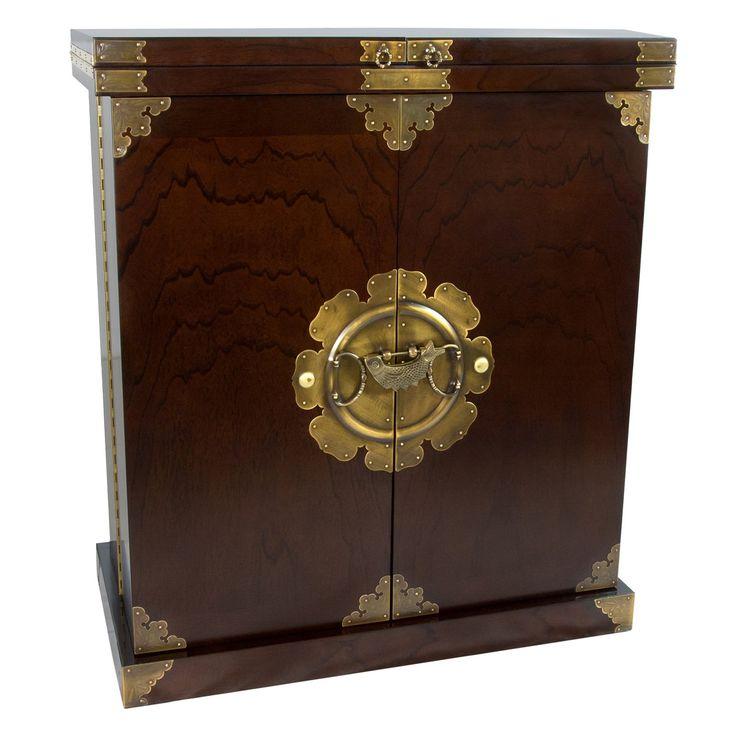 Oriental Furniture Korean Antique Style Wine Bar Cabinet | from hayneedle.com