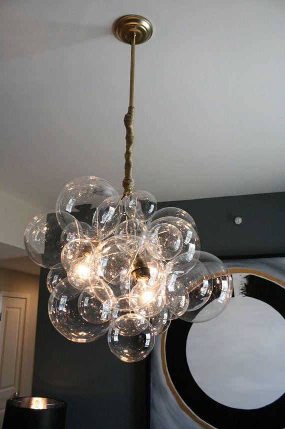 Large Floating Glass Bubble Chandelier L U M I 201 R E