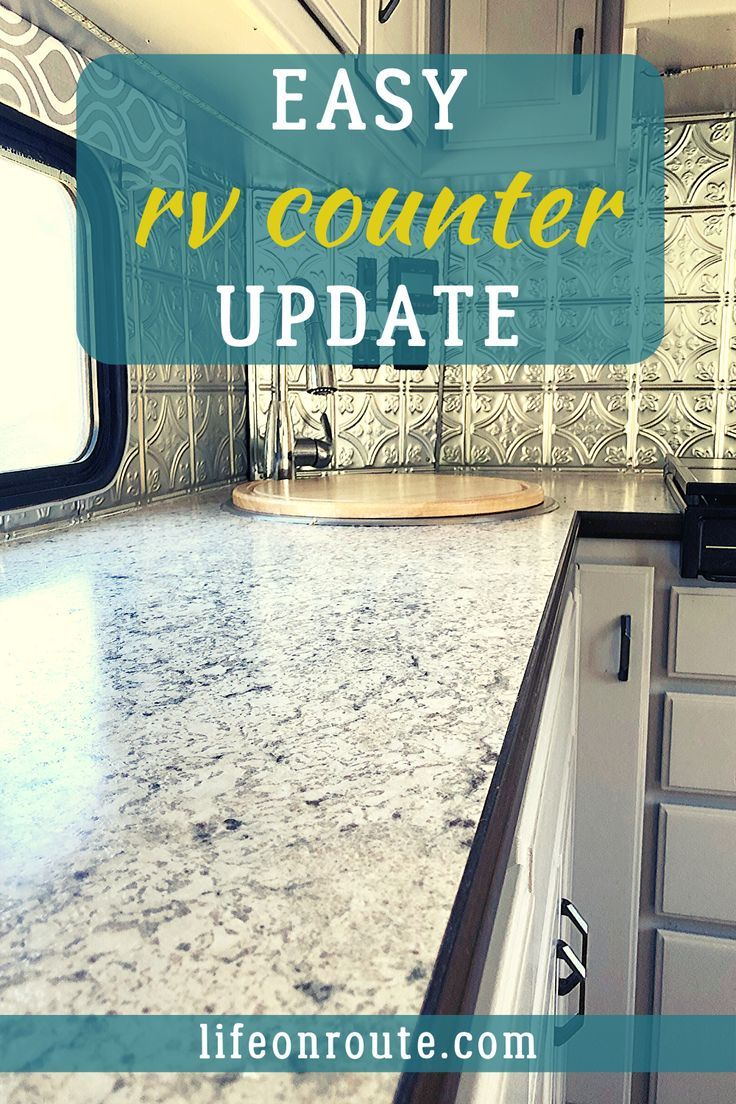 The Cheap Durable Way To Update Your Rv Counter In 2020 Budget Friendly Renovation Travel Trailer Remodel Rv Makeover