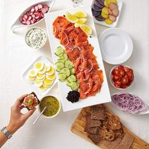 This smoked salmon platter requires little effort but the spread makes a big impression.