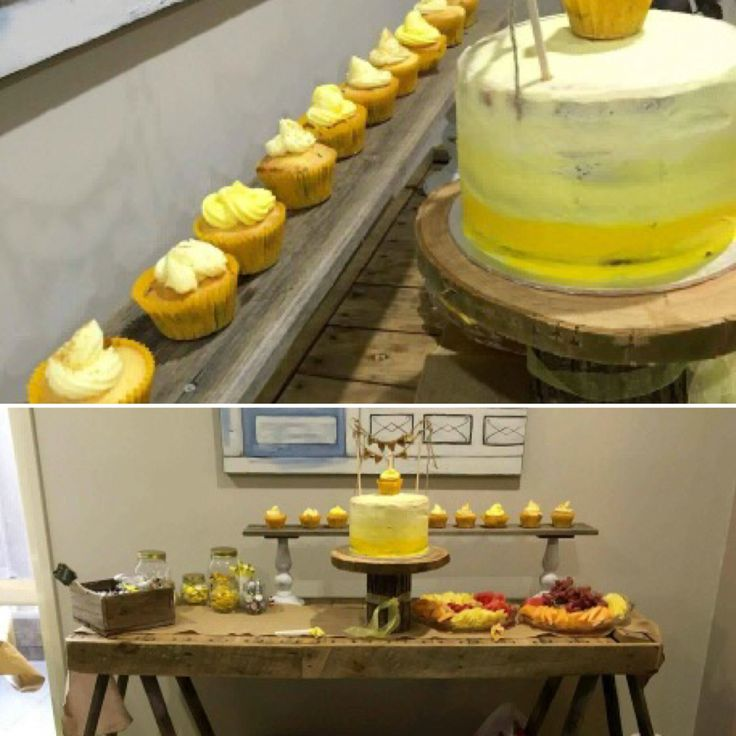#rusticcaketable #nakedcake #rusticcakestand #queenstvintage #timbertrestletable #rustictrestletable #yellowcake