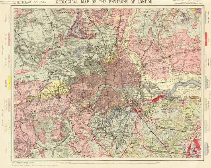 67 best old london maps images on pinterest london map maps and geological map of the environs of london 1883 sciox Gallery