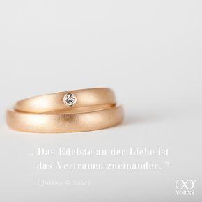 Wedding bands and true love. #liebe #edel #zitat #eheringe #gold #matt #diamant #yorxs