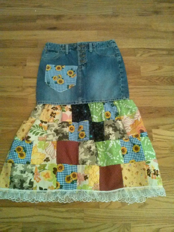 ON SALE This week only Patchwork Skirt by HeadiesFlowerPatch, $19.00