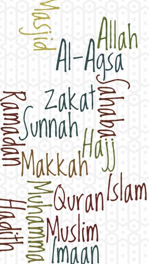 islamic wallpaper for iphone with word cloud