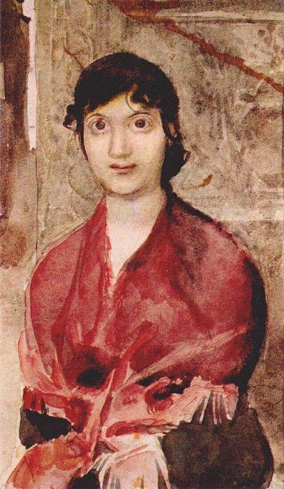 Михаил Александрович Врубель - Портрет венецианской девушки, 1885
