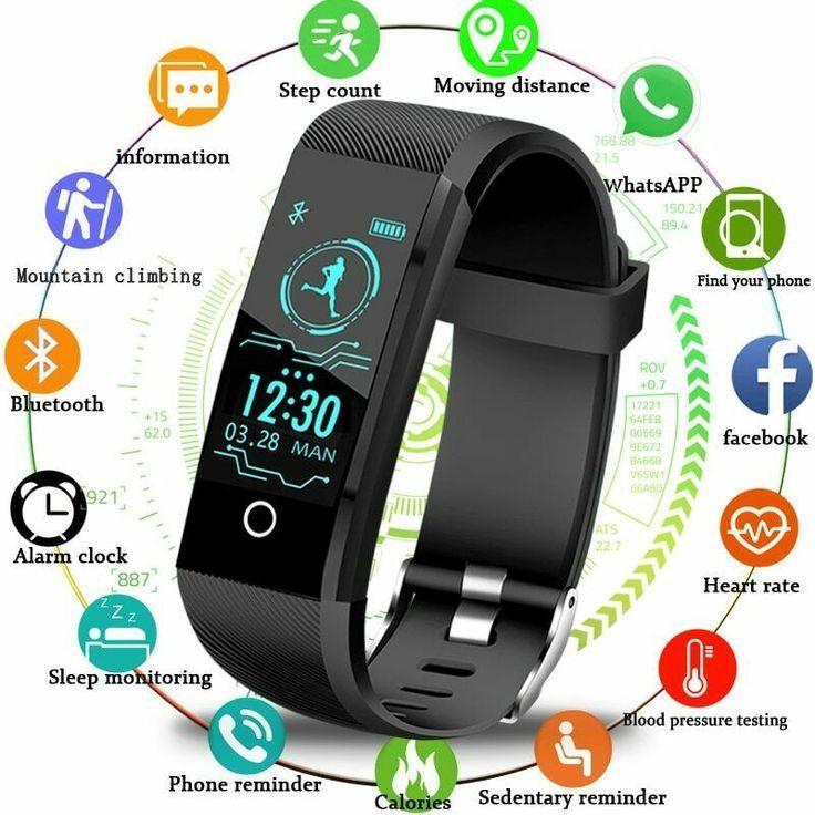 2019 Neue Smartwatch Herren Fitness Tracker Pedometer Sportuhr Unbranded Sport Fitness Herren Pedometer Smartwatch Fitness Tracker Sportuhr Smartwatch