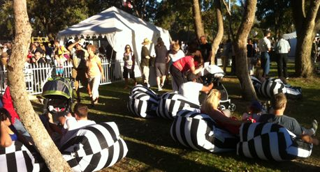 Bean Bags perfect for the chill out area at Joondalup Festival