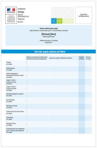 Évaluation des élèves du CP à la 3e. Un livret scolaire plus simple, un brevet…